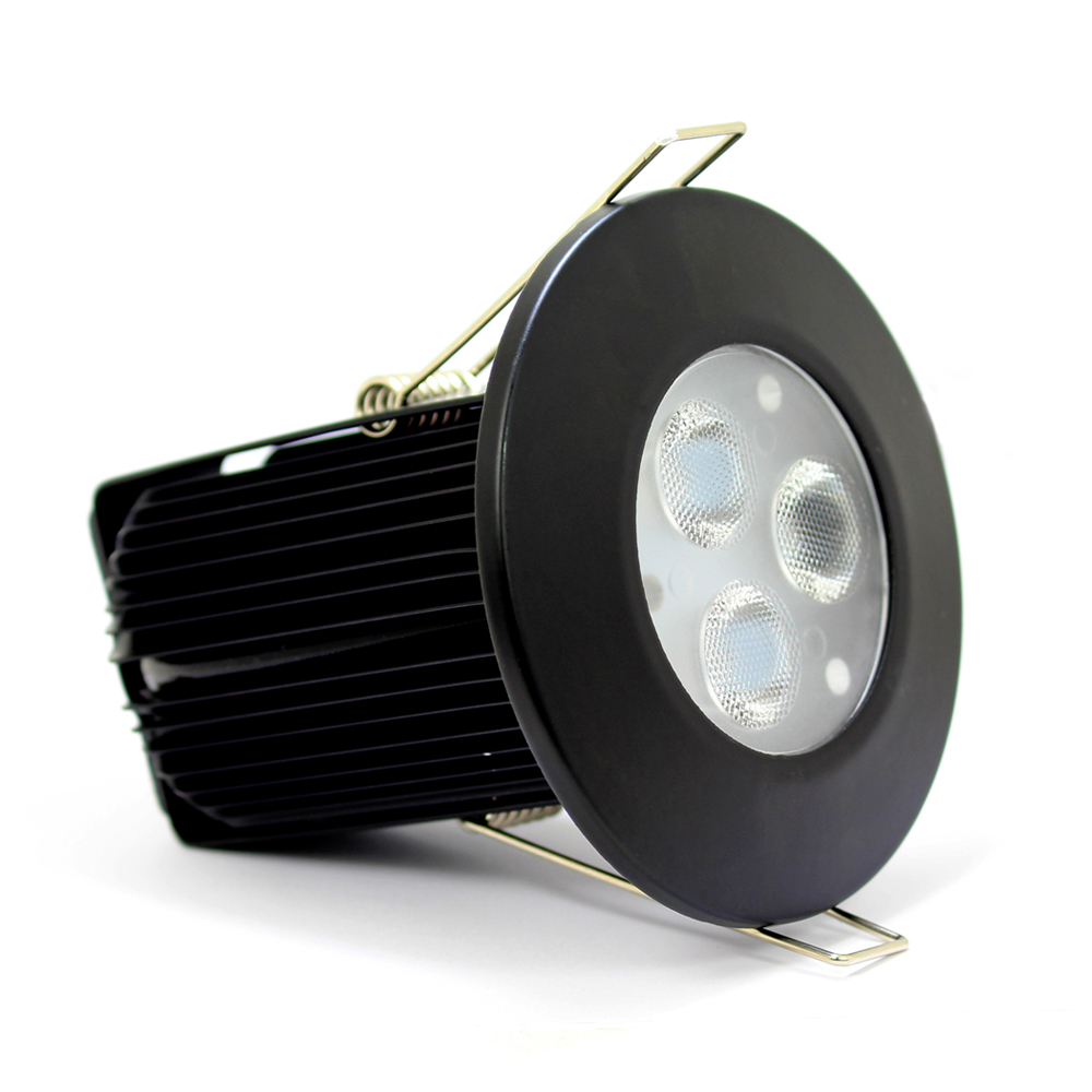 Buy 9w Dimmable Fire Rated Led Downlight Black