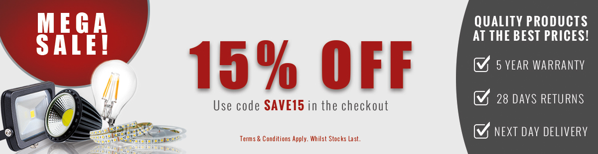 15% Off Selected Products