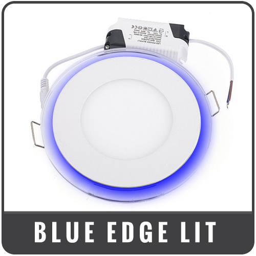 blue edge lit panels