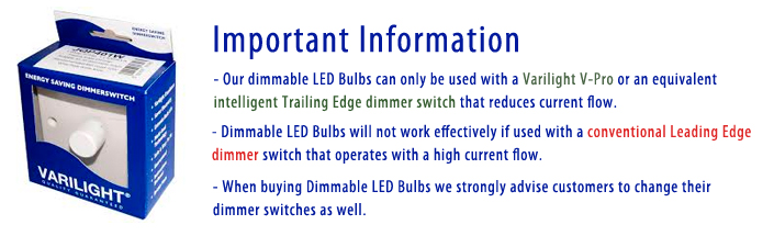Important notice about dimmable LED lights