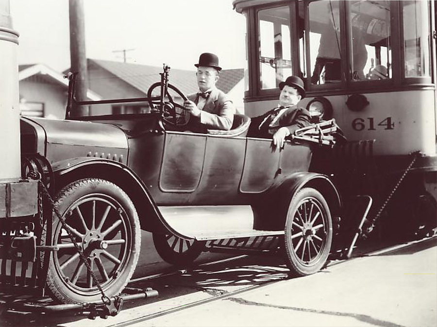T Ford Model Old Car In Laurel And Hardy Comedy