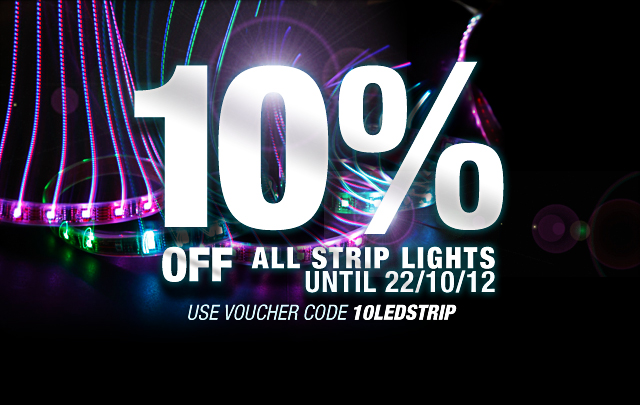 10% Off All LED Strip Lights