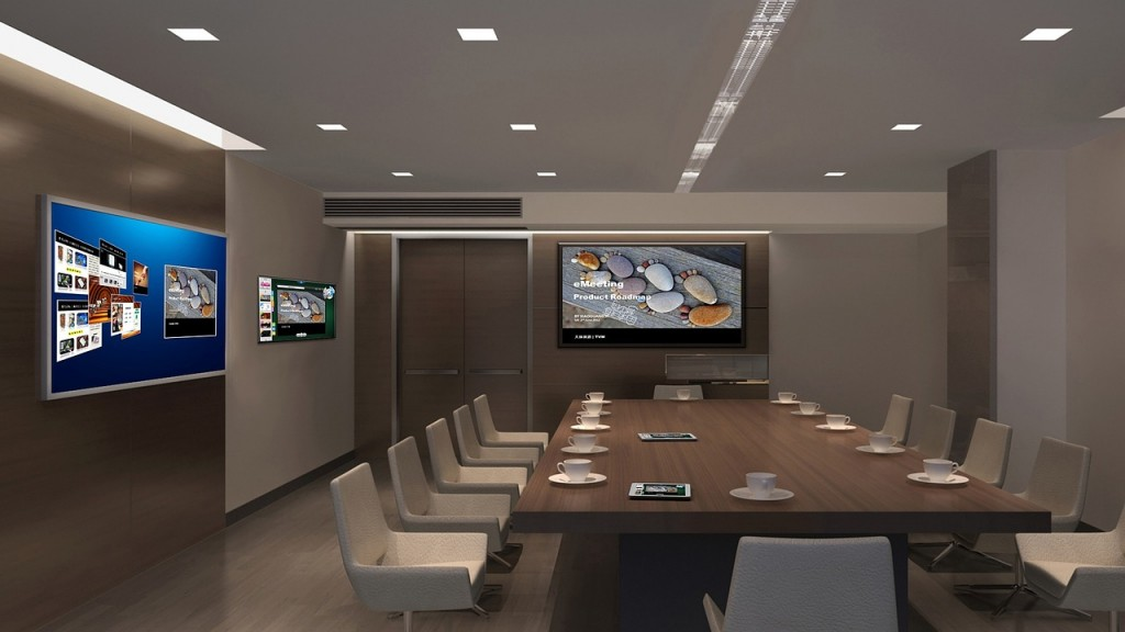 Conference Room - Workspace With LED Lights