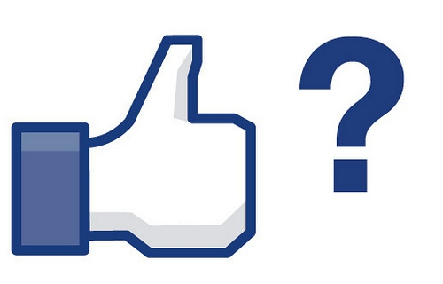 Facebook Like And A Question Mark
