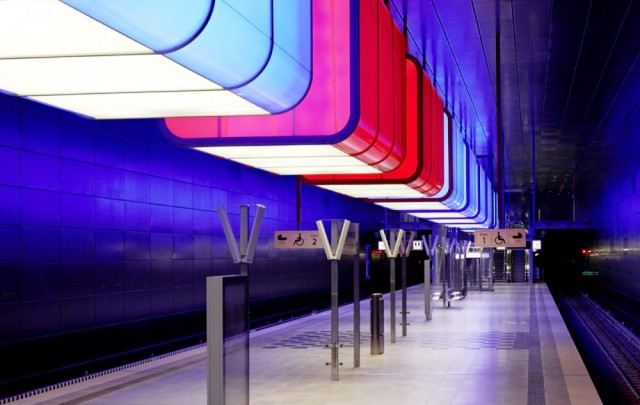Hafencity Subway Station Receives Colourful LED Makeover