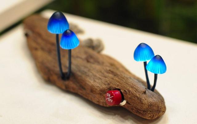 Blue LED Mushroom Lights