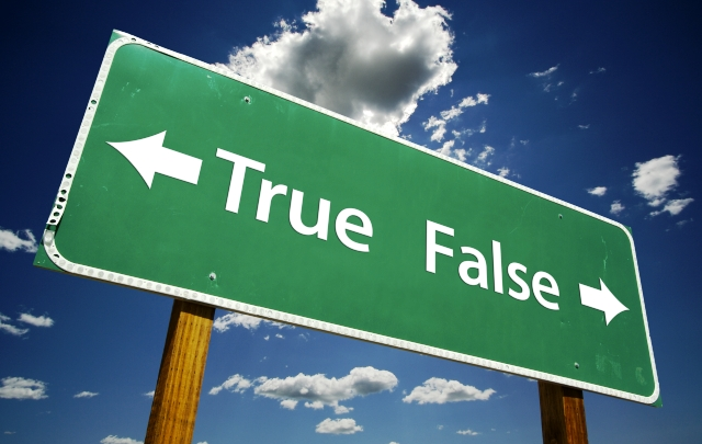 True False Sign