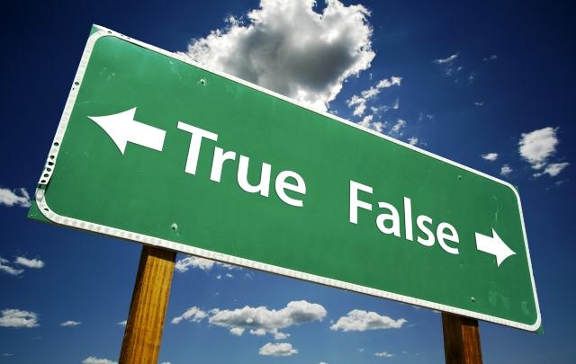 True False Sign