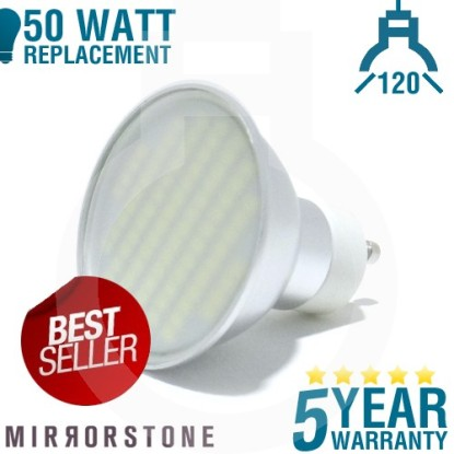 80 SMD GU10 LED Bulb = 50W Replacement