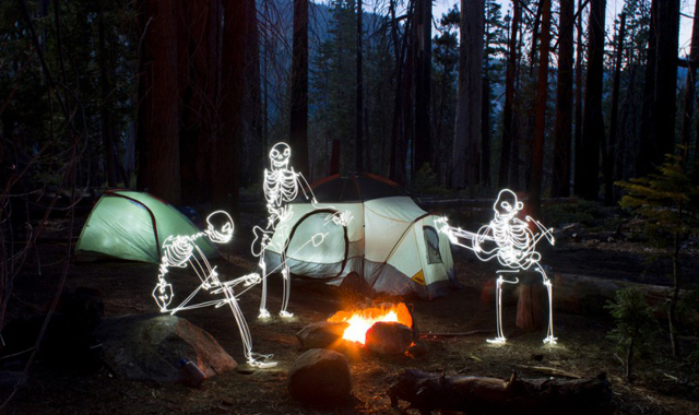 Camping - LED Light Painting By Darren Pearson