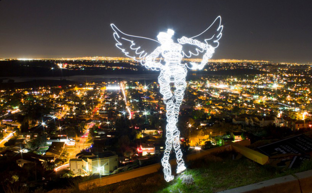 Angel - LED Light Painting By Darren Pearson