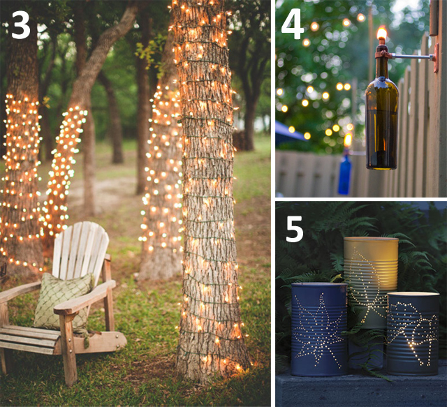 6 diy outdoor lighting ideas for your garden