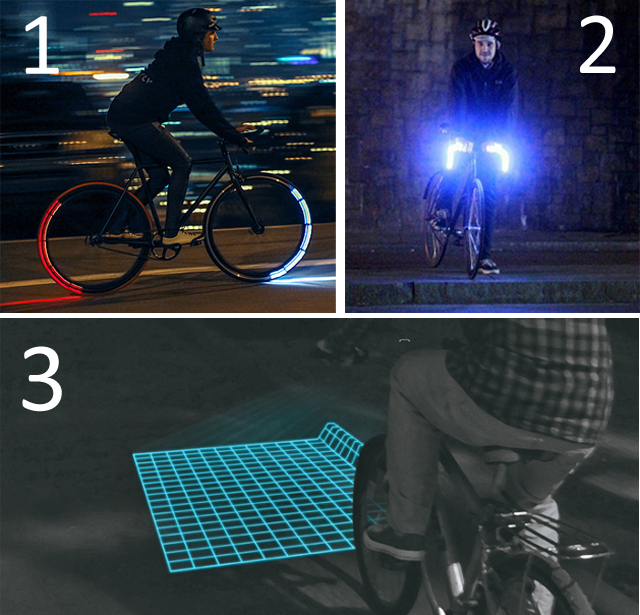 1. Revolights, 2. Glo-Bar, 3. Lumigrids
