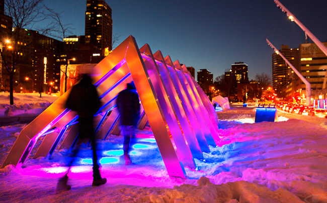 Iceberg Hits Montreal With Stunning LED Light