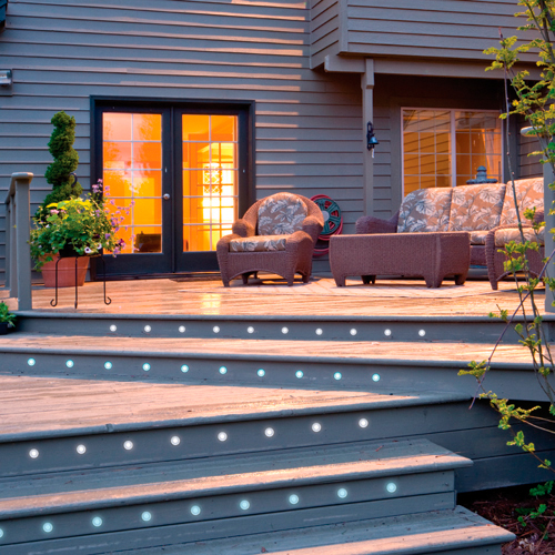 LED Decking Lights In Rear Garden Patio