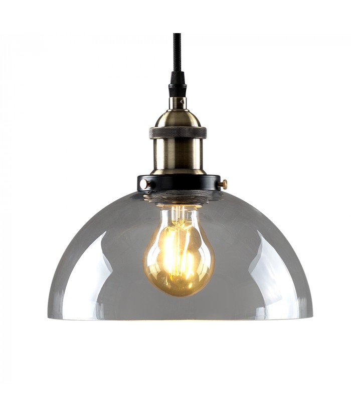 The briscoe steampunk led pendant light with clear glass shade