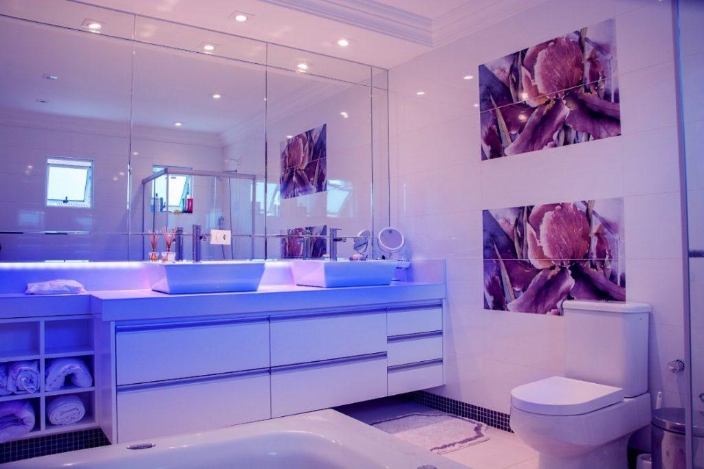 Strip Lights In Bathroom