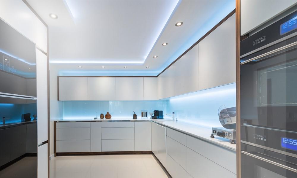 LED Strip Lights In Kitchen